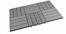 SORARA WPC Terrassen Fliesen | 30 x 30 cm | 6
