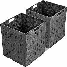 Sorbus® Doppel-Gewebter Korb Mülleimer Set