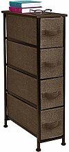 Sorbus® Schmaler Kommode Tower mit 4 Schubladen