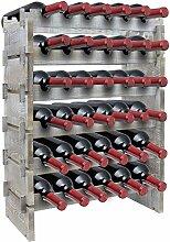 Sorbus Weinregal aus Holz, stapelbar, rustikaler