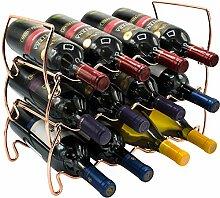Sorbus Weinregal mit 3 Ebenen, stapelbar,