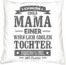 Soreso® Dekokissen Kissen Coole Mama einer