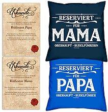 Soreso Design Geschenk Weihnachten Mama Papa Deko