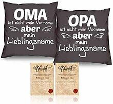Soreso Oma und Opa Kissen-Duo Farbe anthrazit