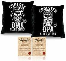 Soreso Oma und Opa Kissen-Duo Farbe schwarz
