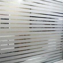 Soriace Prämie 2D Statische Fensterfolie Sonnenschutz und Isolierung / Sichtschutzfolie / Dekorfolie / Statisch Folie für Fenster (Selbstklebend und Kein Klebstoff), 3Ft X 6.5Ft.(90 x 200Cm)(Muster 1)