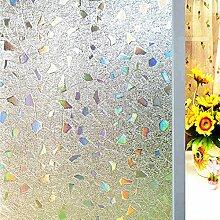 Soriace® Prämie 3D Statische Fensterfolie Sonnenschutz und Isolierung / Sichtschutzfolie / Dekorfolie / Statisch Folie für Fenster (Selbstklebend und Kein Klebstoff), 1.5Ft X 6.5Ft.(45 x 200Cm)(Muster 3)