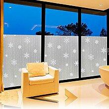 Soriace Prämie Farbglasfilm Statische Fensterfolie Sonnenschutz und Isolierung / Sichtschutzfolie / Dekorfolie / Statisch Folie für Fenster (Selbstklebend und Kein Klebstoff), 1.5Ft X 6.5Ft.(45 x 200Cm)(Muster 2)