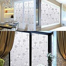 Soriace Prämie Stereo Brechungs Statische Fensterfolie Sonnenschutz und Isolierung / Sichtschutzfolie / Dekorfolie / Statisch Folie für Fenster (Selbstklebend und Kein Klebstoff), 1.5Ft X 6.5Ft.(45 x 200Cm)(Muster 6)