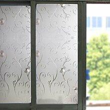 Soriace Prämie Stereo Brechungs Statische Fensterfolie Sonnenschutz und Isolierung / Sichtschutzfolie / Dekorfolie / Statisch Folie für Fenster (Selbstklebend und Kein Klebstoff), 1.5Ft X 6.5Ft.(45 x 200Cm)(Muster 3)
