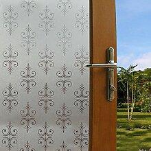 Soriace Prämie Stereo Brechungs Statische Fensterfolie Sonnenschutz und Isolierung / Sichtschutzfolie / Dekorfolie / Statisch Folie für Fenster (Selbstklebend und Kein Klebstoff), 1.5Ft X 6.5Ft.(45 x 200Cm)(Muster 1)