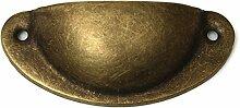 sorliva Schublade Pull Griff, antik Vintage Möbelknopf, bronze