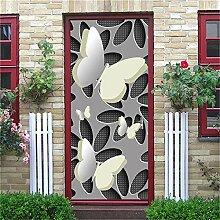 SORMANXZ 3D-Türaufkleber Tapete Türwandaufkleber