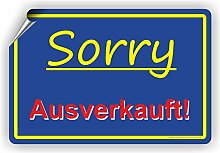 Sorry AUSVERKAUFT - SCHILD / D-048 (30x20cm Aufkleber)
