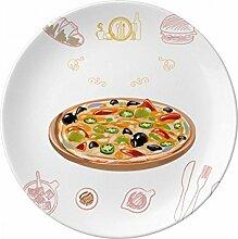 sortiert Italien Tomate Foods Pizza Porzellan