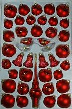 Sortiment mit Formglocken rot glanz/matt 39 Teile