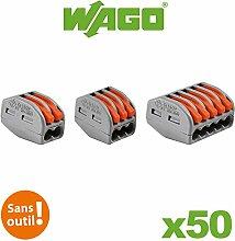 Sortimentskasten mit 50 WAGO-Klemmen für flexible und starre Leiter