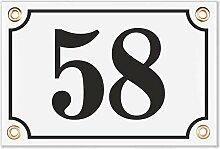 Sosenco Hausnummerschild Hausnummer - 10x15 cm -