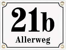 Sosenco Hausnummerschild Hausnummer mit