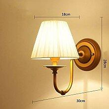 SOSO Lampe Wand Stoff Wandlampe Pastoral Wind