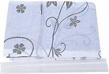 Souarts Grau Stickblume Gardine Raffgardinen