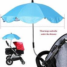Universal Kinderwagenschirm Gebogen Sonnenschirm Regenschirm Sonnensegel Durchmesse 65cm UV-Schutz 50 57cm f/ür Kinderwagen Babywagen /& Buggy Zubeh/ör