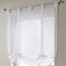 Souarts Weiß Transparent Gardine Vorhang