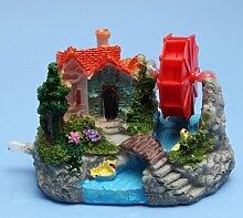 Souked Aquarium Dekoration Aquarium Dekorative Steingarten Wind -Rad