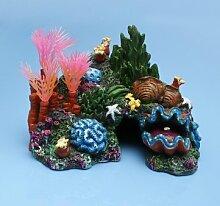 Souked Aquarium Resin Coral Conch Shells Wasserpflanzen Steingarten Dekoration