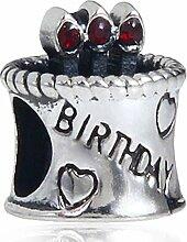 soulbead Happy Birthday Kuchen Kerze Charm