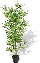 SOULONG Künstliche Bambus Pflanze mit Blumentopf