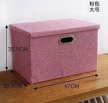Sounagary Einfache Stoff Aufbewahrungsbox, Lagerung, Schrank, Kleiderschrank, Home Verbrauchsmaterialien Klappbare Aufbewahrungsbox, Siehe Optionen Chart, Rosa Trompete