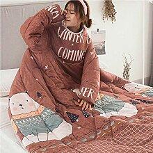 soundwinds Decke mit Ärmeln tragbare Decke, Dicke