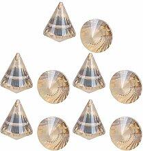 sourcing map 10Stk. Kristallkugel Diamantform für