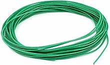 sourcingmap® 10 M 24AWG Elektrische Kupferkern Flexibel Silikon Drahtseil Grün