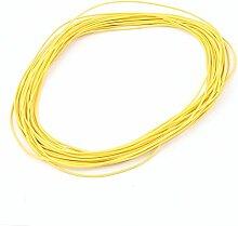 Sourcingmap 10m 28AWG Electric Kupfer Core Flexibler Silikon Draht Kabel gelb