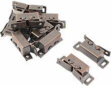 sourcingmap® 10 Stück Haushalt Metall Schrank Schrank Schrank Tür Doppel Roller Kupfer