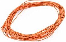 sourcingmap® 10M 24AWG Elektrische Kupferkern Flexibel Silikon Kabel Orange