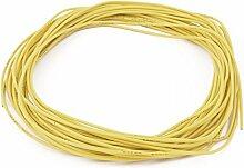 sourcingmap® 10M 24AWG elektrischer Kupfer Kern flexibel Silikon Kabel Draht gelb RC Modell