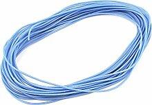 sourcingmap® 10M 24AWG elektrischer Kupfer Kern flexibel Silikon Kabel Draht blau RC Modell