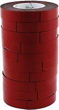 sourcingmap® 10Stk 5M 10mmx2mm doppelseitig Schwamm Band Aufkleber stoßfest Klebeband
