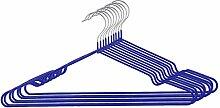 sourcingmap® 10Stk Garderobe Metall Kleidung Handtuch Unterwäsche Schal Trocknen Hängen Blau