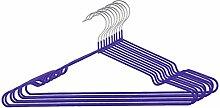 sourcingmap® 10Stk Garderobe Metall Kleidung Handtuch Unterwäsche Schal Trocknen Hängen Lila