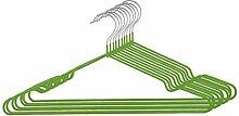 sourcingmap® 10Stk Garderobe Metall Kleidung Handtuch Unterwäsche Schal Trocknen Hängen Grün