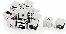 sourcingmap® 10Stk regelbar Viereck Klammer Halter Regal für 8mm-11mm dick Glas de