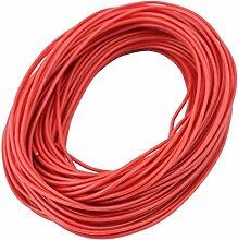 sourcingmap® 15 M AWG 24 3-KV-Elektrische Kupferkern Flexibel Silikon Kabel Rot für RC
