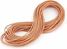 sourcingmap® 15M 22AWG Elektrische Kupferkern Flexibel Silikon Kabel Orange