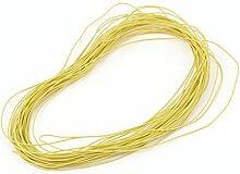 sourcingmap® 15M 30AWG elektronisch Kupfer Schnur Flexibel Silikon Draht Kabel Gelb