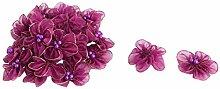 sourcingmap 20 Stk Haushalt Organza Imitation Perle Dekor Applikationen Blume lila