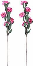 sourcingmap 2pcs Party Schaum Chrysantheme Form Tisch DIY Dekor künstliche Blumen Fuchsia